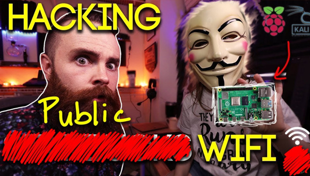 Hacking (redacted) PUBLIC WiFi with a Raspberry Pi and Kali Linux